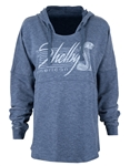 Ladies Navy Heather Relaxed Pullover Hoody