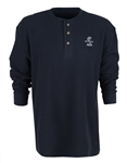 Super Snake Navy Thermal Henley