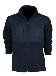 CS Quilted Overlay Navy Fleece Jacket