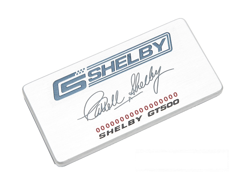 Shelby GT500 Dash Plaque (2010-2014)