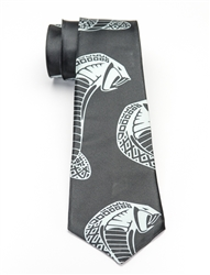 Snake Head Black Tie