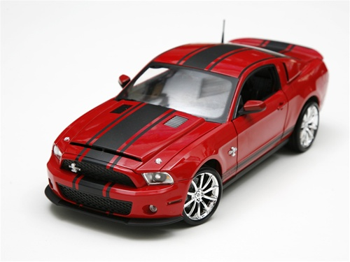 1 18 2010 Shelby Gt500 Super Snake Red W Black Stripes