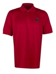 Super Snake Textured Red Polo
