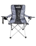 Shelby Padded Folding Chair - Charcoal/Black