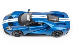 1:18 2017 Blue Ford GT Diecast