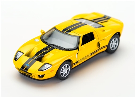 1:36 2006 Yellow Ford GT Diecast