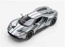 1:38 2017 Silver Ford GT Diecast