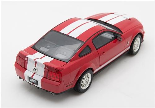 1 18 2007 red w white stripe gt500 diecast. Black Bedroom Furniture Sets. Home Design Ideas