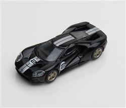 1:64 2017 Black Ford GT 1966 #2 Ford GT40 Mk II Tribute Diecast