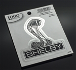 Chrome Super Snake Die Cut Decal