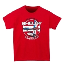 Youth Shelby American Cars Red Tee