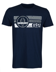 Shelby American '62 Navy Tee