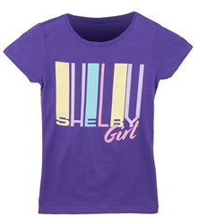 Youth Retro Shelby Purple Tee