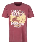 Life's Too Fast to Drive Slow Brick Red Tee
