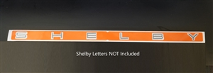 Shelby GT500 Trunk Letter Template Decal