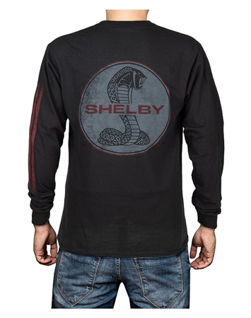 Shelby Super Snake Long Sleeve Black Tee