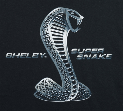 Chrome Shelby Super Snake Black Tee