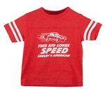 This Kid Loves Speed Red Toddler Tee