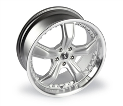 Shelby 20x10 Rear Satin Silver Razor Wheel