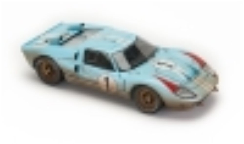 118 1966 gulf blue ford gt40 le mans 1 after race diecast