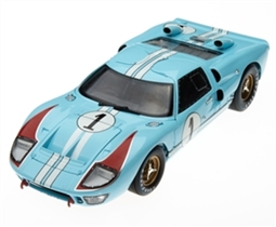 1:18 1966 Gulf Blue Ford GT40 Le Mans #1 Diecast