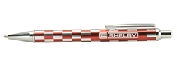 Shelby Checkered Pen - Red/Silver