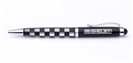 CS Shelby Black and Silver Checkered Stylus Pen