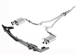 2015-2016 MUSTANG 2.3L CAT BACK TOURING EXHAUST SYSTEM WITH GT350 EXHAUST TIPS AND LOWER VALANCE (49-state legal)