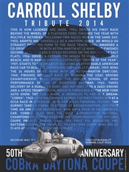 Carroll Shelby 2014 Tribute Poster