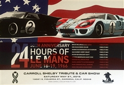 Carroll Shelby 2016 Tribute Poster - Le Mans