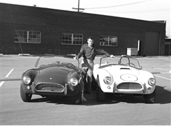 1964 Carroll Shelby with Cobras Canvas Art