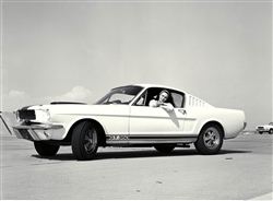 1964 First Shelby Mustang GT350 (with girl) Framed Print with Double Mat