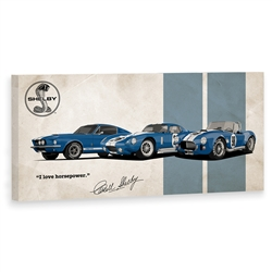 """I Love Horsepower"" Legends Canvas Art"