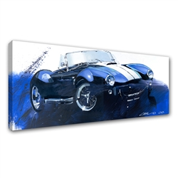 Blue Cobra Canvas Art