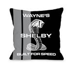 Custom Built for Speed Throw Pillow