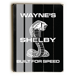 Custom Built for Speed Wooden Plank Sign