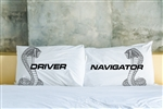 Driver and Navigator Pillowcases