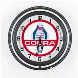 Blue Neon Cobra Clock