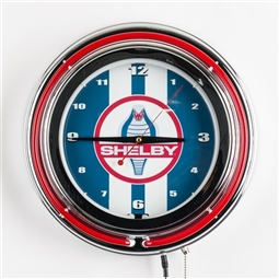 Red Neon Shelby Cobra Clock