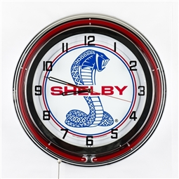 Red Neon Super Snake Clock