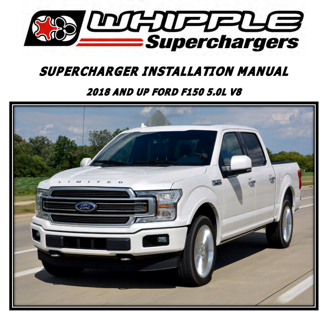 SUPERCHARGER INSTALLATION MANUAL