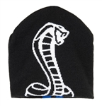 Shelby Snake Beanie Black with Blue Double Stripe