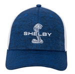 Shelby Blue and White Stretch Trucker Hat