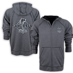 Shelby Snake Charcoal Zip Hoodie