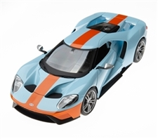 1:18 2019 Ford GT Light Blue with Orange Diecast