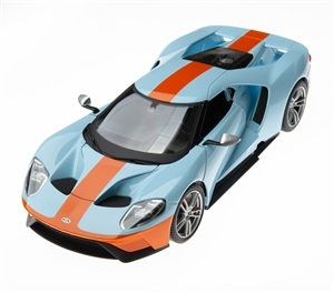 1:18 2017 Ford GT Light Blue with Orange Diecast