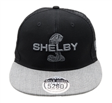 Grey and Black Flat Bill Snap Back Hat