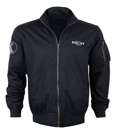 Shelby American Black Aviator Jacket