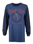 Long Sleeve Built for Speed Marine Heather Contrast Tee