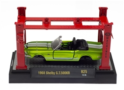 1:64 1968 Satin Green Shelby GT500KR Model Kit with Auto Lift